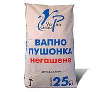 Известь негашеная (пушонка), 25 кг
