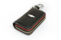 Ключница Carss с логотипом CHEVROLET 14006 черная