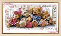Семья мишек  Набор для вышивки крестом 14 ст