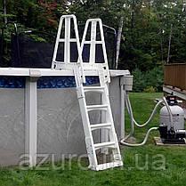 Лестница пластиковая повышенной прочности для каркасных бассейнов , фото 2