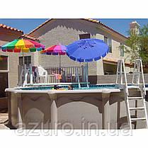 Лестница пластиковая повышенной прочности для каркасных бассейнов , фото 3