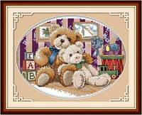 Мишки в детской комнате  Набор для вышивки крестом
