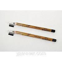 Карандаш для век и бровей с расческой FFLEUR Eyebrow Pencil, цвет серый ES7616/AB05-4