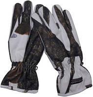 Перчатки охотничьи поларовые Thinsulate (S) зимний камуфляж MFH 15423E