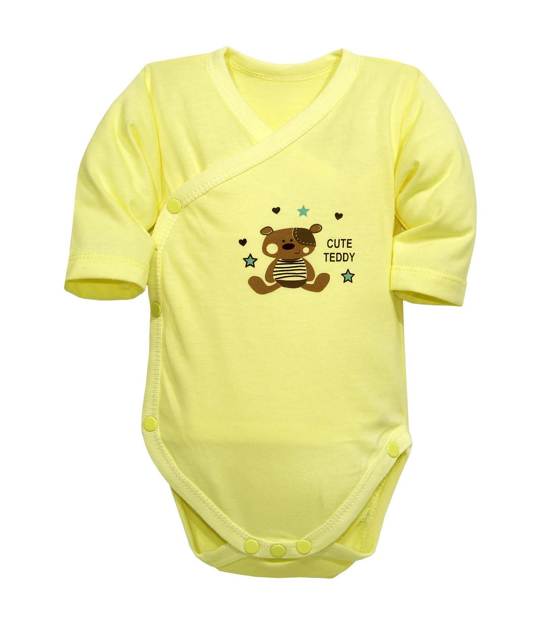 Боди для новорожденных на запахе Мишка Тедди 3-6 мес