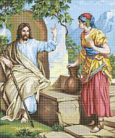 Схема для вишивки та вишивання бісером Бисерок ікона «Ісус и самаритянка»  (A1) 4814801e4f54d