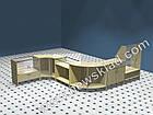 Торговий прилавок(ламінований ДСП, скляна вітрина) ПС1, фото 3
