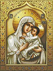 Схема для вишивки та вишивання бісером Бисерок ікона «Св Богородица Умиление» (A1) 60x80 (ЧВ-8016 (10))