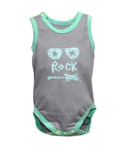 """Боди майка для новорожденных """"Rock"""", фото 2"""