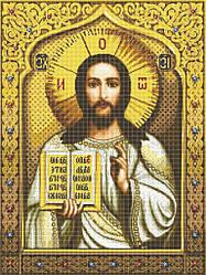 Схема для вишивки та вишивання бісером Бисерок ікона «Господь Вседержитель» (A1) 60x80 (ЧВ-8017 (10))
