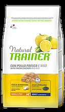 Корм Trainer (Трейнер) NATURAL Adult Mini Con Pollo Fresco для дорослих собак дрібних порід з куркою, 800 г