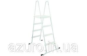 Лестница стальная для каркасных бассейнов высотой 1,2 метра, фото 2