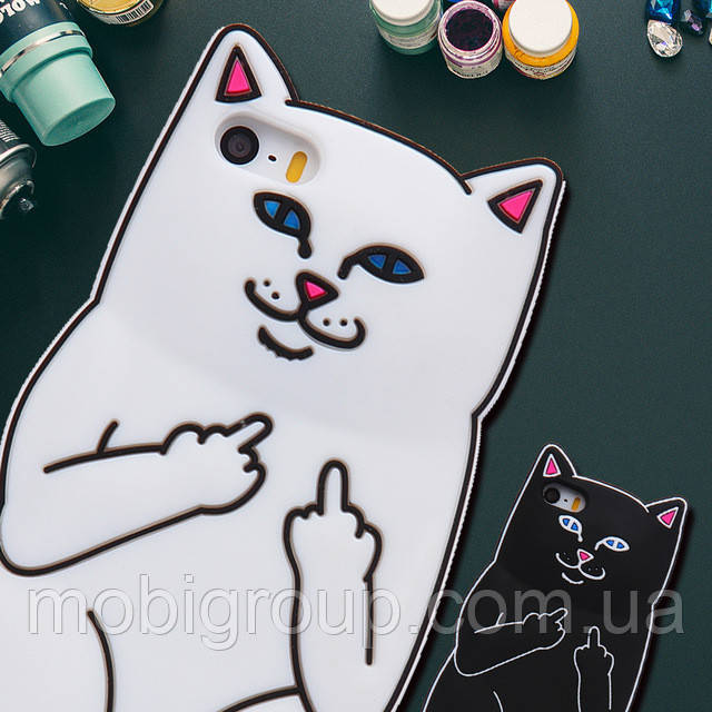 Силиконовый чехол Cat F**k iPhone 7