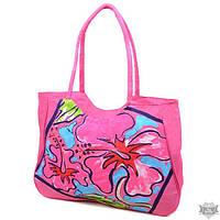 Женская розовая пляжная сумка Podium 1353 light-pink