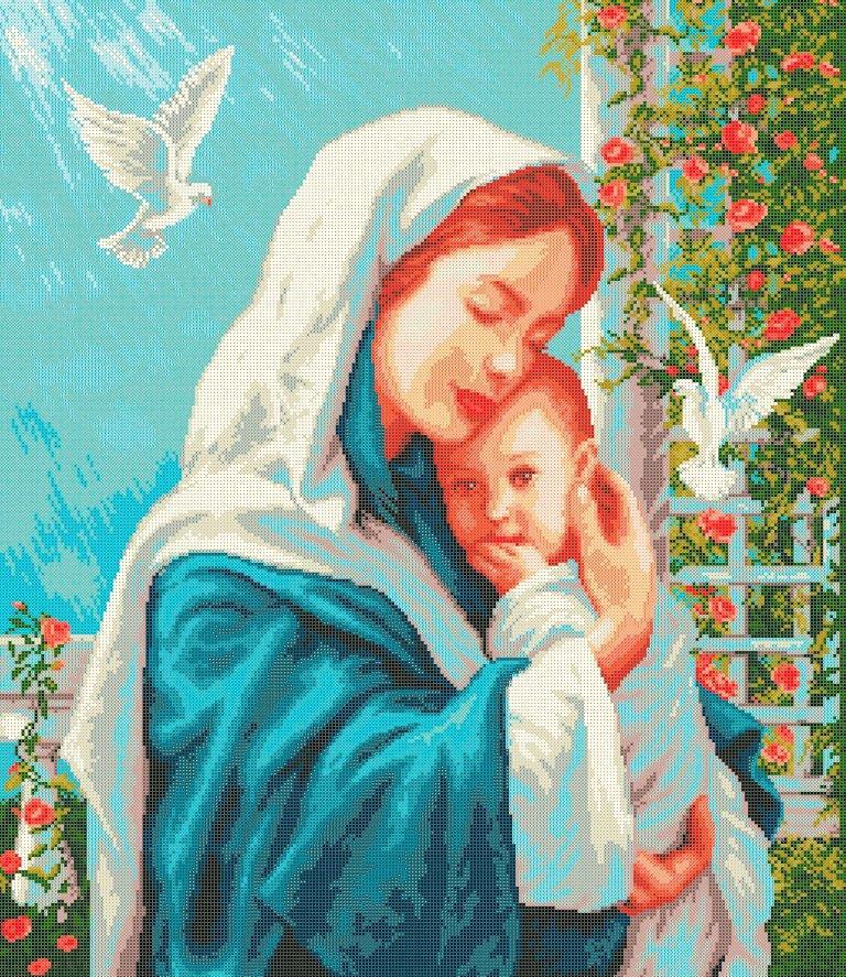 Схема для вишивки та вишивання бісером Бисерок «Материнська любов» (A1) 60x80 (ЧВ-8013 (10))