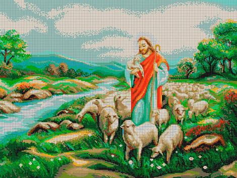 Схема для вишивки та вишивання бісером Бисерок «Добрий пастир» (A1) 60x80 (ЧВ-8014 (10))