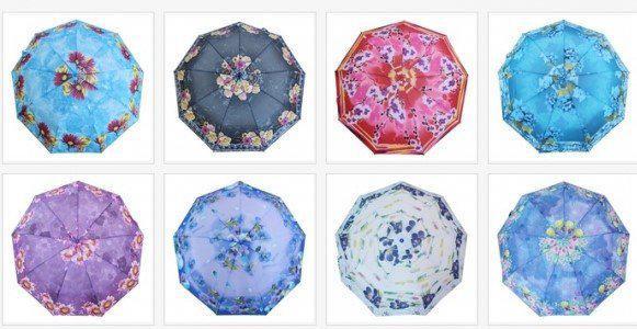 Зонт полуавтомат женский 9 спиц Lantana LAN690