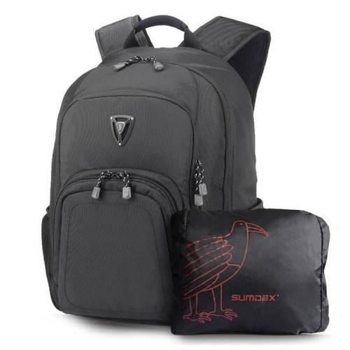 """Практичный рюкзак с отделом для ноутбука 15,6"""" Sumdex PON-394BK черный + чехол"""