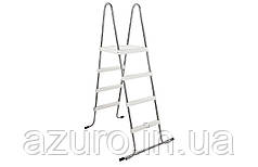Лестница нержавеющаяя для каркасных бассейнов высотой 1,2 метра