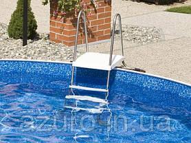 Лестница нержавеющаяя для каркасных бассейнов высотой 1,2 метра, фото 3