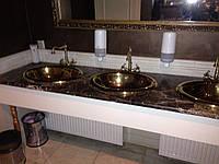 Столешница в ванную комнату из натурального камня