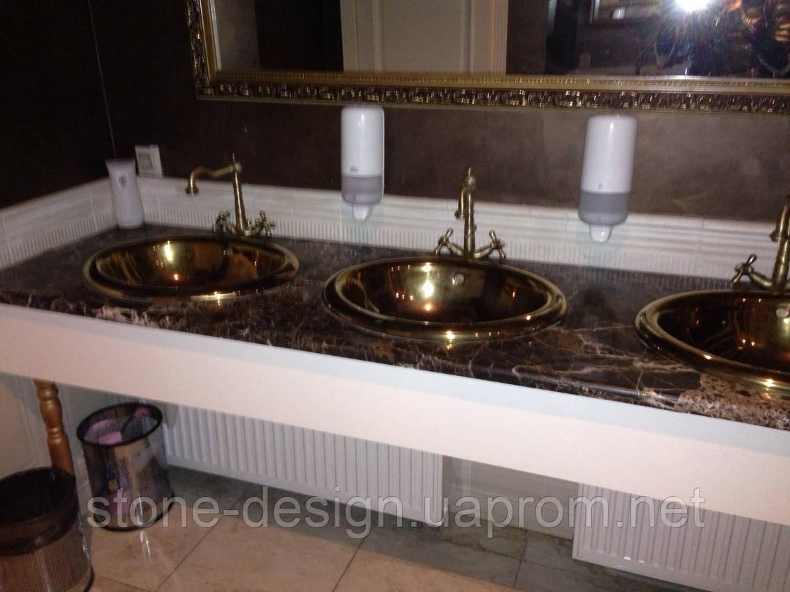 Столешница в ванную комнату из натурального камня - STONE DESIGN в Киеве
