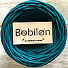 Трикотажная пряжа Bobilon Micro 3-5 мм, цвет Морская волна