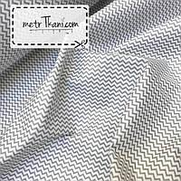 Ткань бязь зигзаг мини серый №177, фото 1