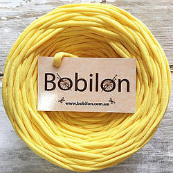 Пряжа трикотажная Bobilon Micro 3-5 мм, цвет Банановый