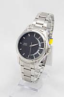 Мужские наручные часы (черный циферблат, ремешок - нержавеющая сталь), фото 1