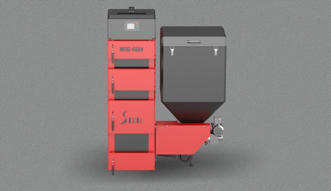 Котел твердопаливний Metal Fach SD DUO-BIO-28 (28 кВт 220-300 м2) з пелетної пальником