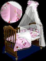"""Детский постельный комплект с балдахином """"Hello Kitty"""" Premium 120*60 см  (Скидка на доставку Новой почтой - 25%)"""