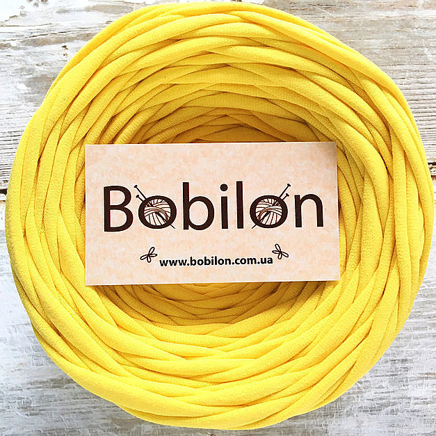 Пряжа трикотажная Bobilon Micro 3-5 мм, цвет Желтый