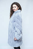 Норковая шуба  Oscar Fur 479 Серый жемчуг , фото 1