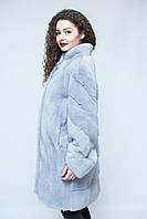 """Удлиненная норковая шуба, цвет - """"Серый Жемчуг"""" / mink coat 479, фото 1"""