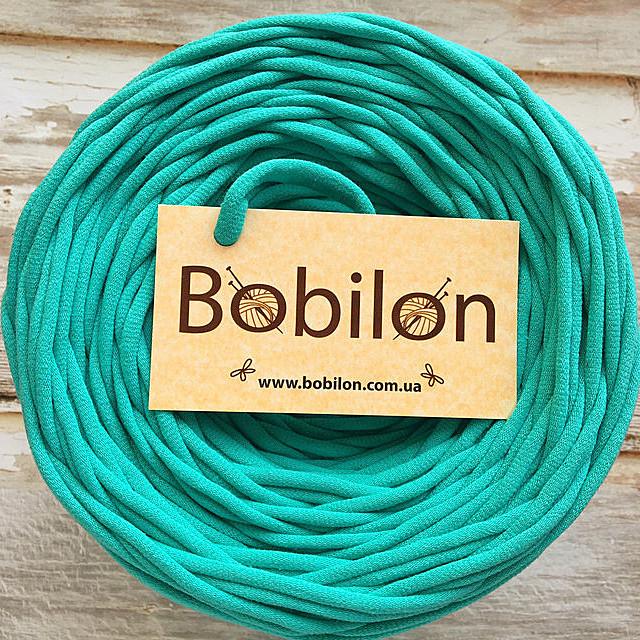 Пряжа трикотажная Bobilon Micro 3-5 мм, цвет Мятный