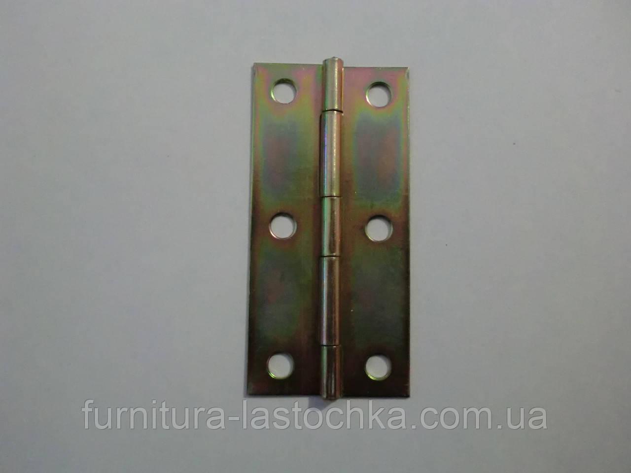 Петля форточная 70 мм, оцинкованная, узкая