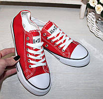 38, 38 розміри жіночі ЧЕРВОНІ кросівки, кеди конверси AIL STAR в стилі Converse all star