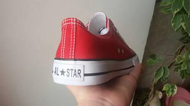 38, 38 розміри жіночі ЧЕРВОНІ кросівки, кеди конверси AIL STAR в стилі Converse all star, фото 3