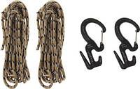 Фигура 9 с карабином маленькая (2шт.) Nite Ize + верёвка C9S-03-TP01