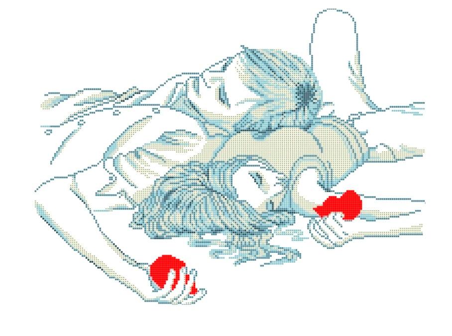 Схема для вишивки та вишивання бісером Бисерок «Одно сердце на двоих» (A2) 40x60 (ЧВ-7034(10))