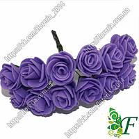 Букетик латексных розочек 20мм фиолетовая за 12 букетов