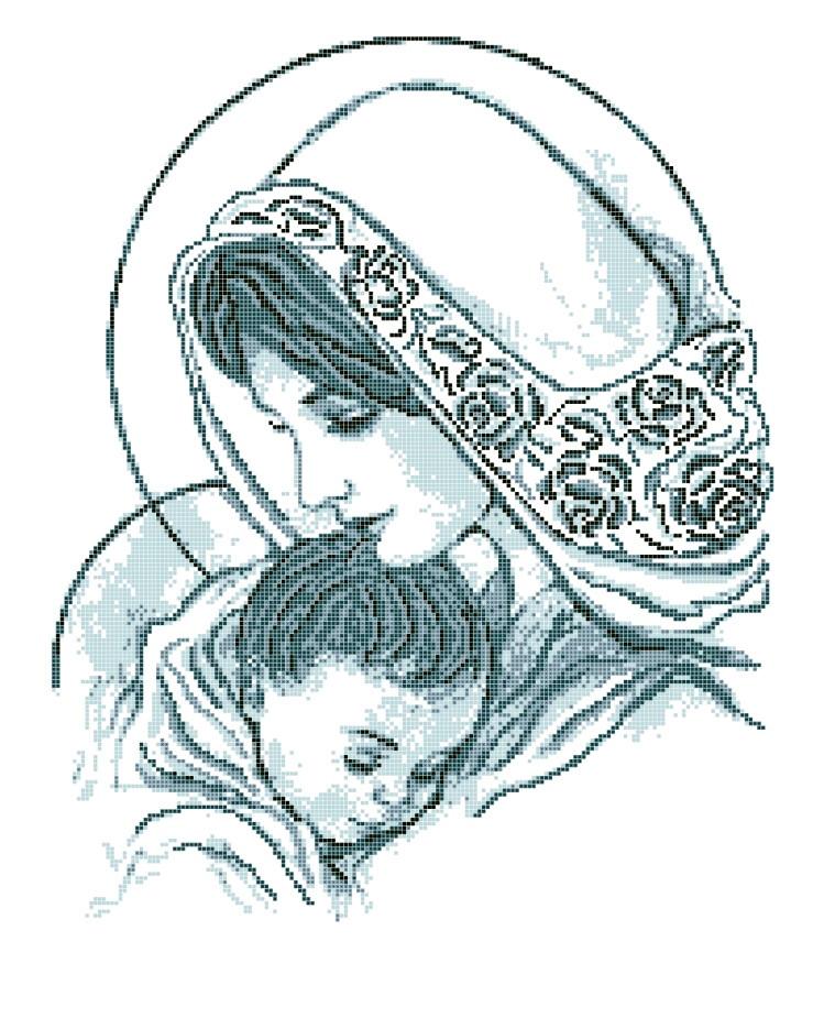 Схема для вишивки та вишивання бісером Бисерок «Мадонна с младенцем» (A2) 40x60 (ЧВ-7035(10))