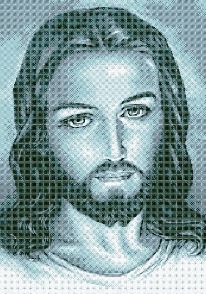 Схема для вишивки та вишивання бісером Бисерок «Иисус» (A2) 40x60 (ЧВ-7036(10))