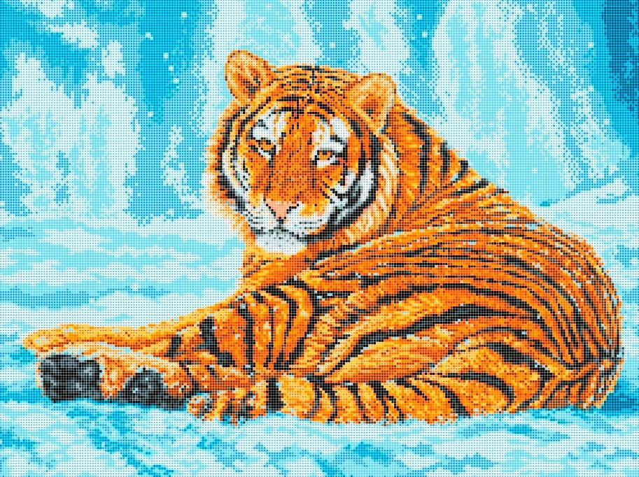 Схема для вишивки та вишивання бісером Бисерок «Тигр» (A2) 40x60 (ЧВ-7038(10))
