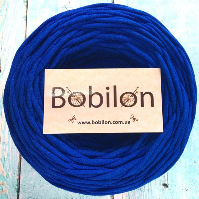 Пряжа трикотажная Bobilon Micro 3-5 мм, цвет Синий электрик