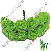 Букетик латексных розочек 20мм зеленая за 12 букетов