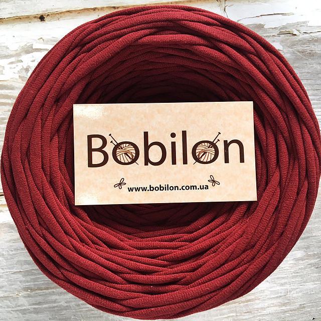 Пряжа трикотажная Bobilon Micro 3-5 мм, цвет Бордовый