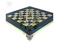 Шахматы «Римляни», зеленые, 28х28 см