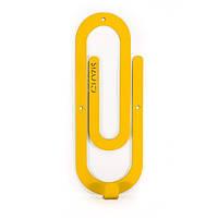 Вешалка настенная Glozis Clip Yellow